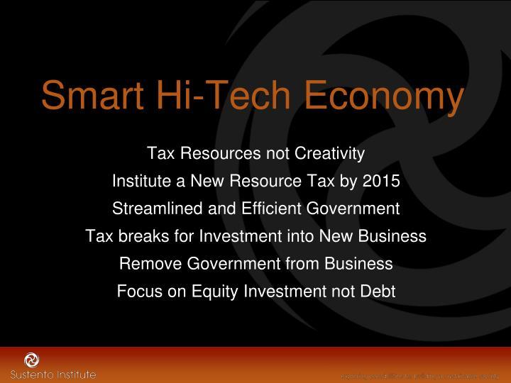 Smart Hi-Tech Economy