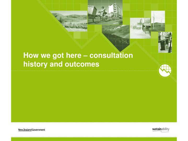 How we got here – consultation history and outcomes