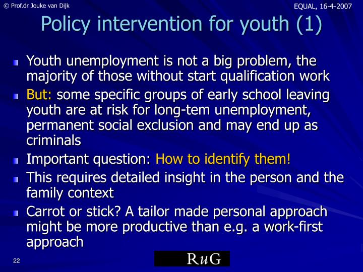 Policy intervention for youth (1)