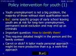 policy intervention for youth 1