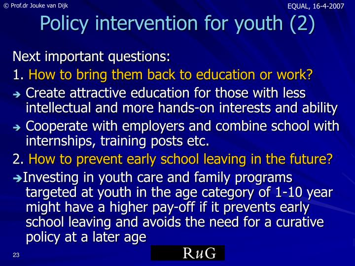 Policy intervention for youth (2)