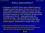 policy intervention
