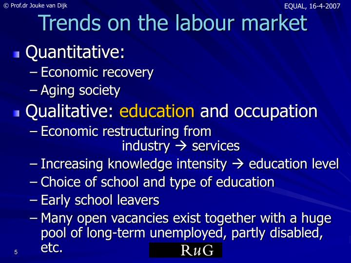 Trends on the labour market