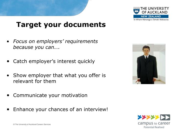 Target your documents