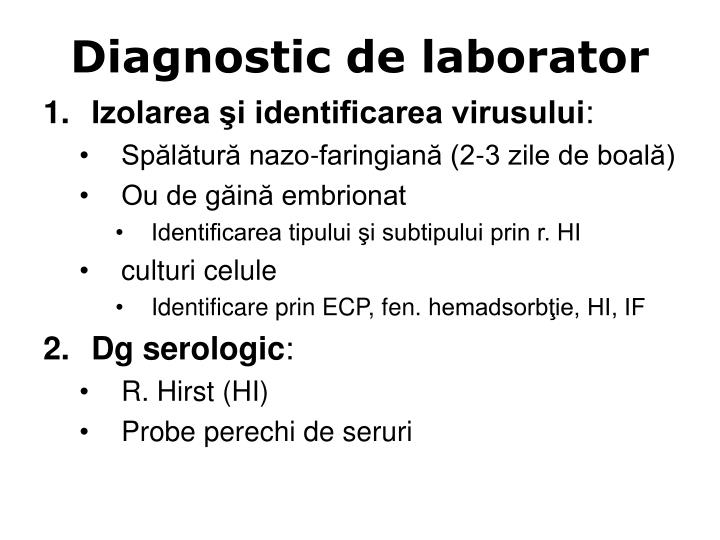 Diagnostic de laborator