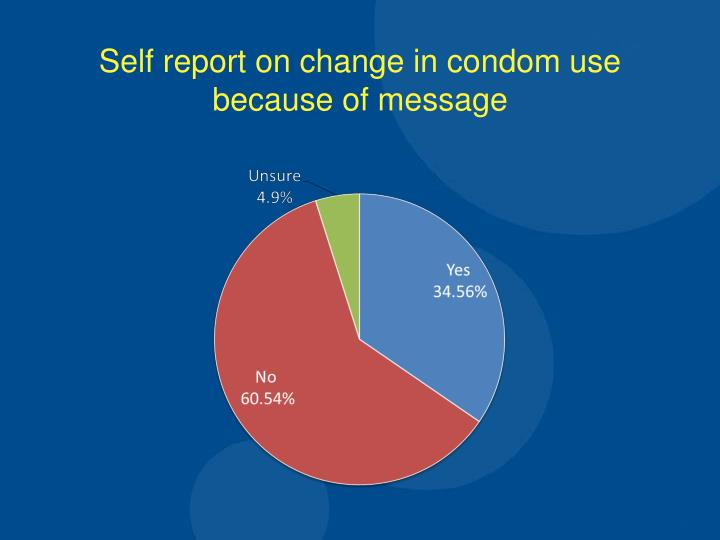 Self report on change in condom use because of message