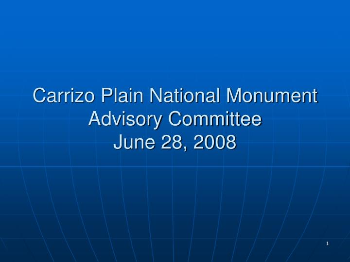 Carrizo Plain National Monument Advisory Committee