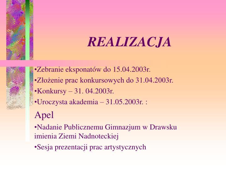 REALIZACJA