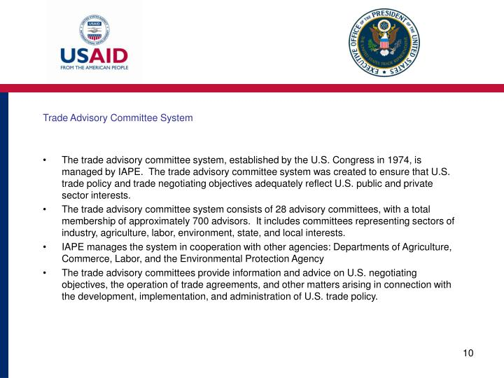 Trade Advisory Committee System