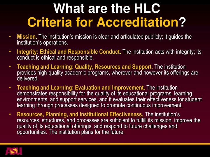 What are the HLC