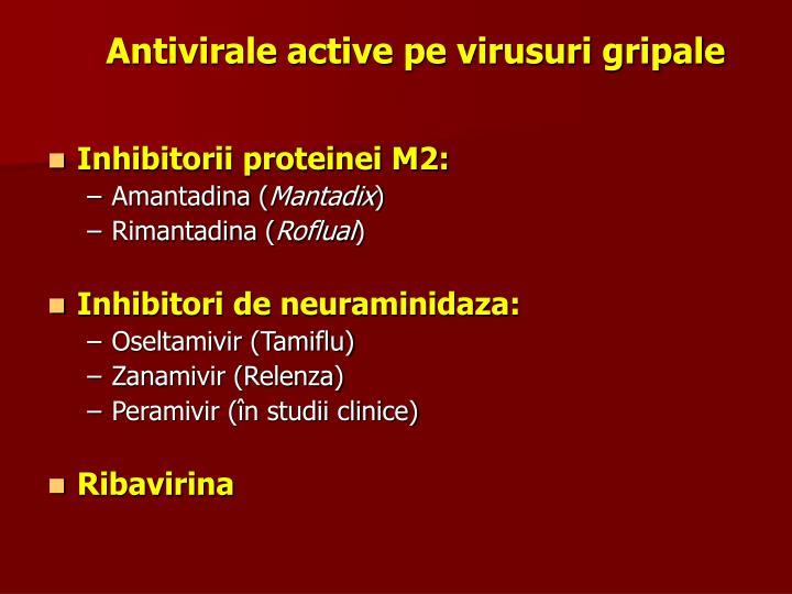 Antivirale active pe virusuri gripale