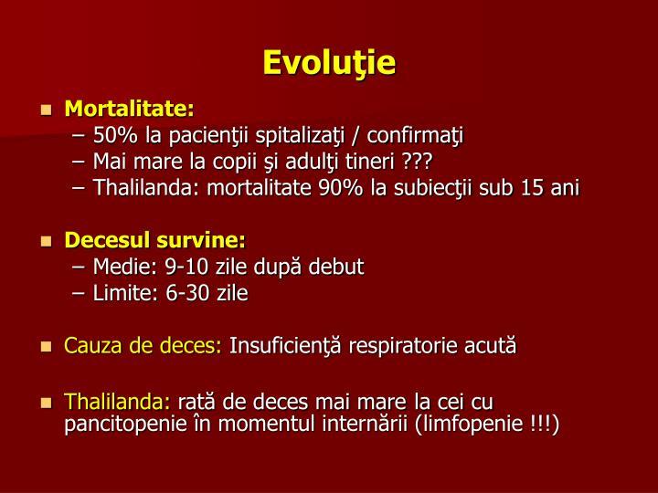 Evoluţie