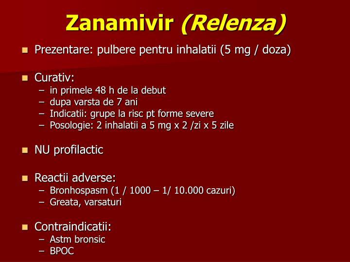 Zanamivir