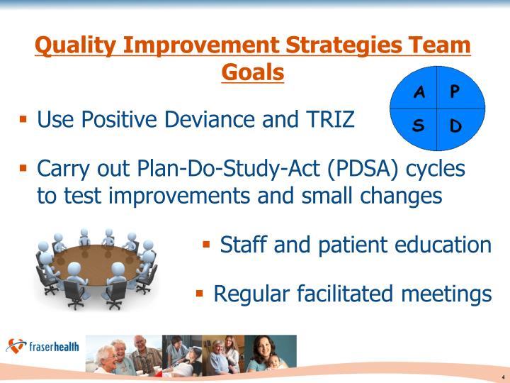 Quality Improvement Strategies Team Goals