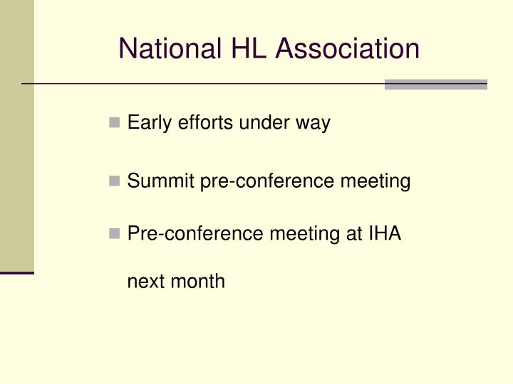 National HL Association