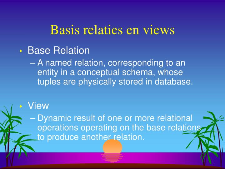 Basis relaties en views