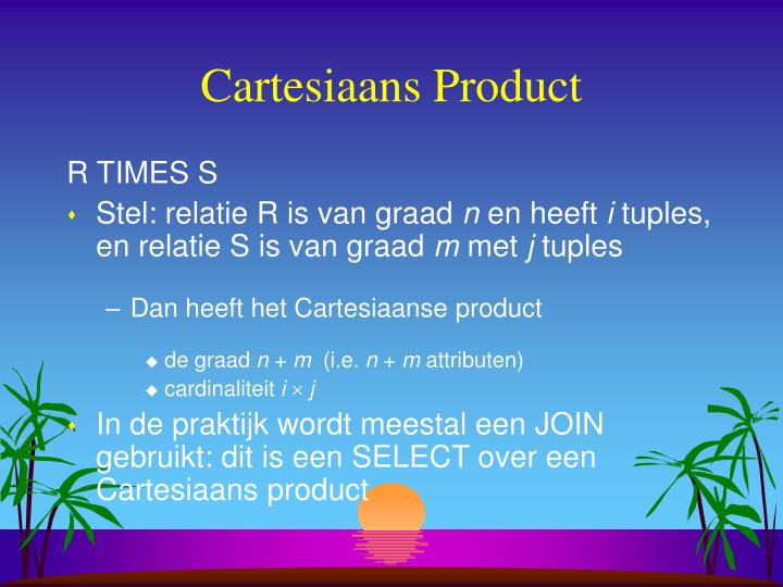 Cartesiaans Product