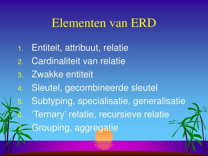 Elementen van ERD