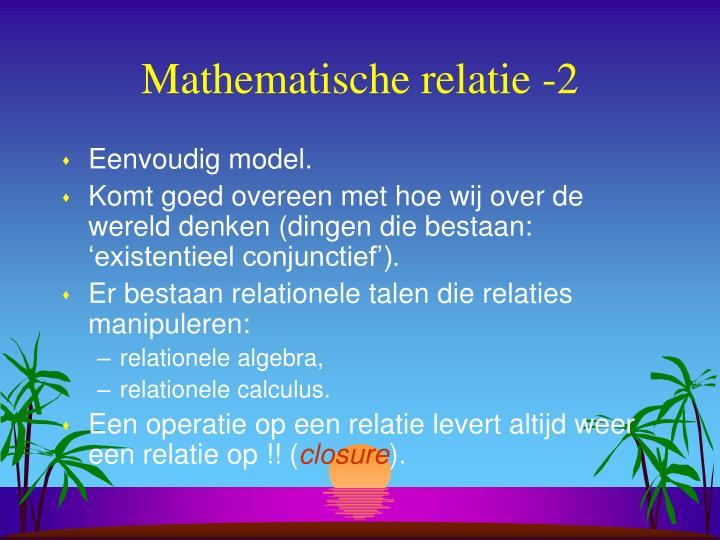 Mathematische relatie -