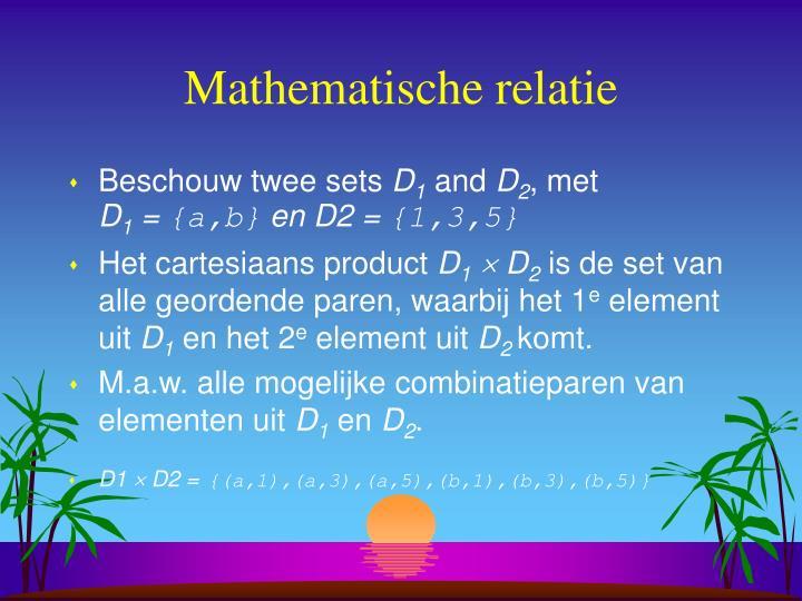 Mathematische relatie