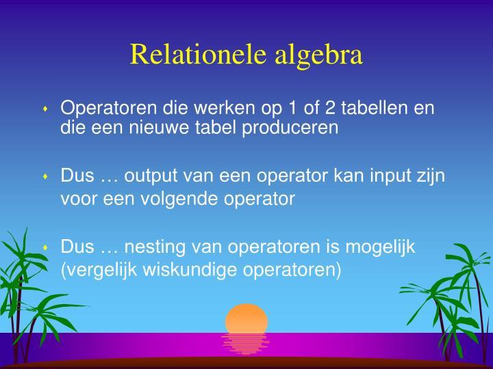 Relationele algebra