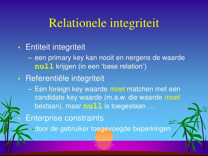 Relationele integriteit