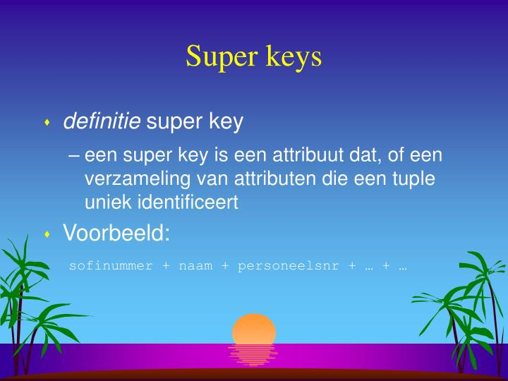 Super keys