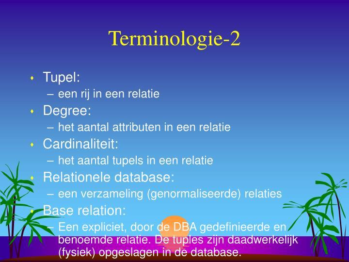 Terminologie-