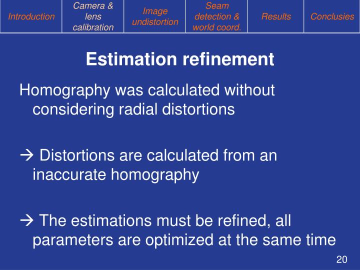 Estimation refinement