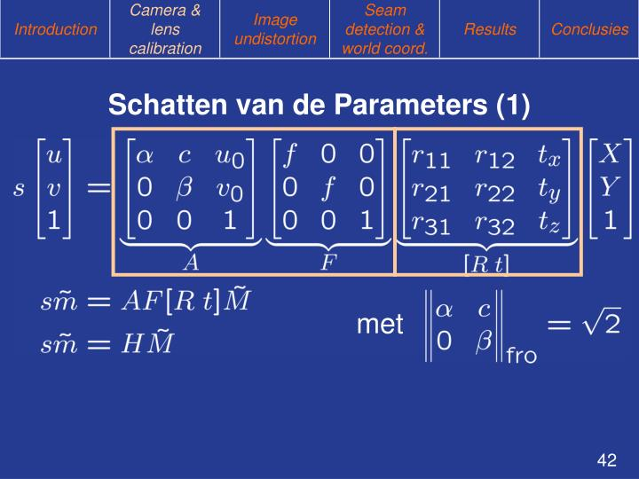 Schatten van de Parameters (1)