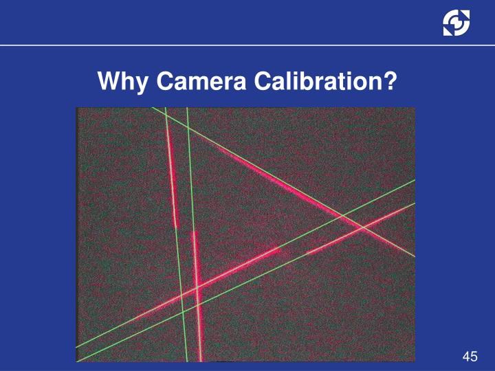 Why Camera Calibration?