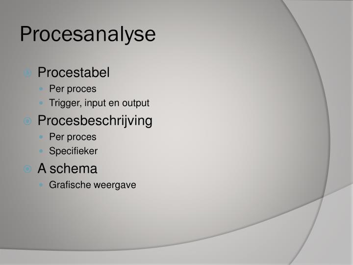 Procesanalyse