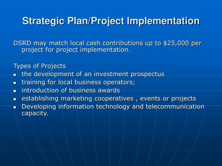 Strategic Plan/Project Implementation