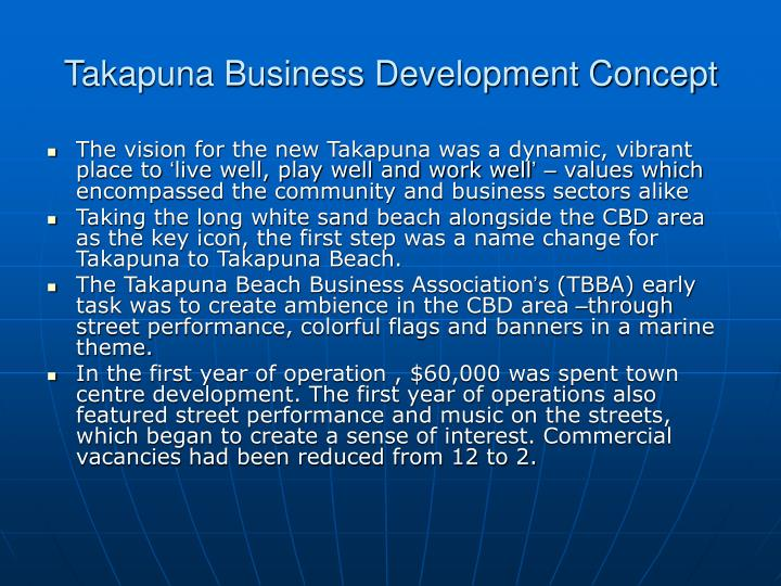 Takapuna Business Development Concept