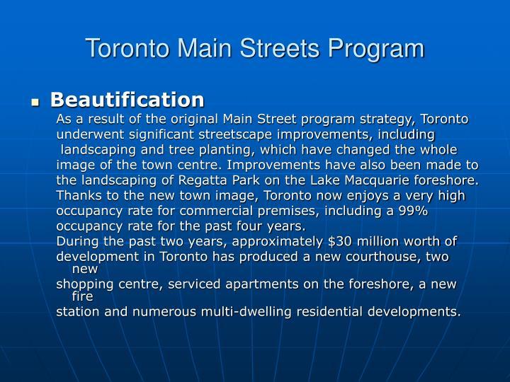 Toronto Main Streets Program