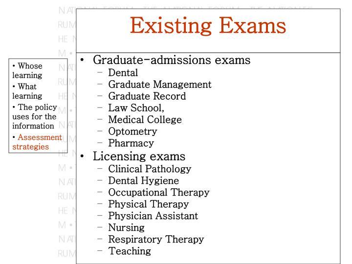 Graduate-admissions exams