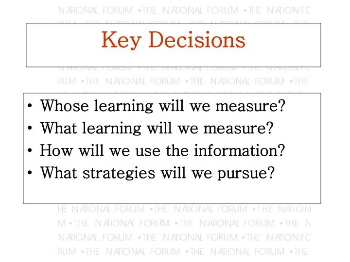 Whose learning will we measure?