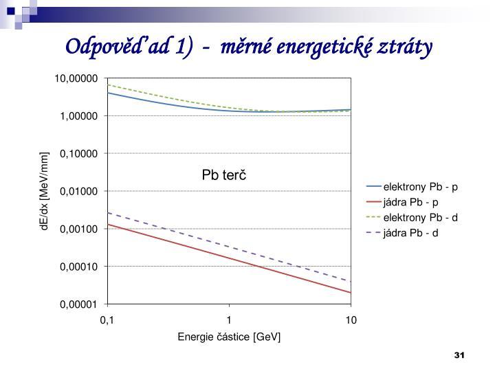 Odpověď ad 1)  -  měrné energetické ztráty