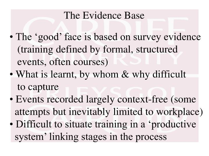 The Evidence Base