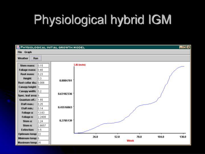 Physiological hybrid IGM