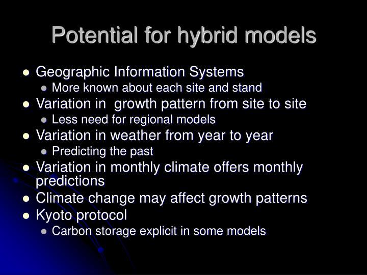 Potential for hybrid models