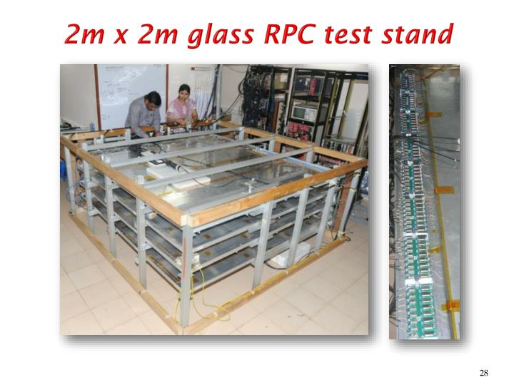 2m x 2m glass RPC test stand