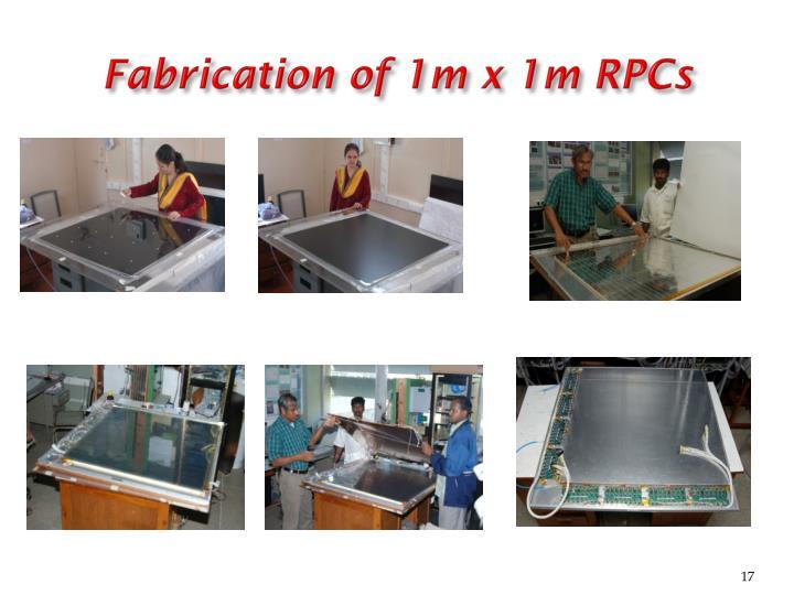 Fabrication of 1m x 1m RPCs