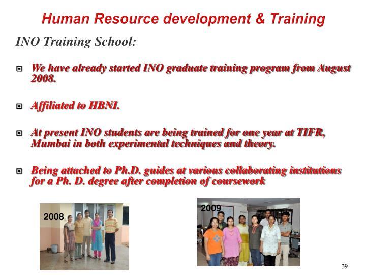 Human Resource development & Training