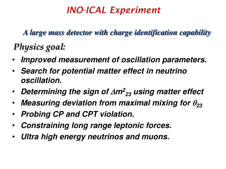 INO-ICAL Experiment