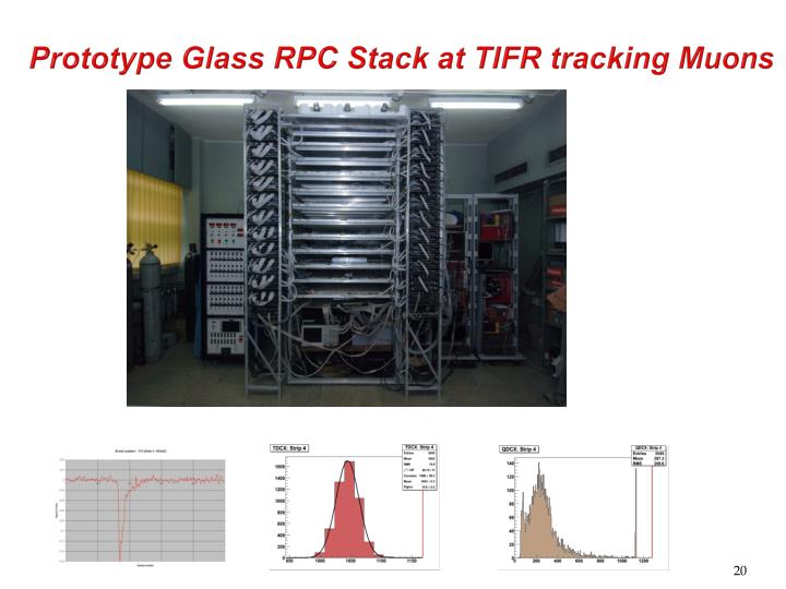 Prototype Glass RPC Stack at TIFR tracking