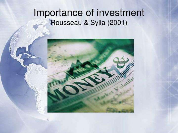 Importance of investment