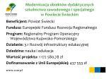 modernizacja obiekt w dydaktycznych szkolnictwa zawodowego i specjalnego w powiecie wieckim