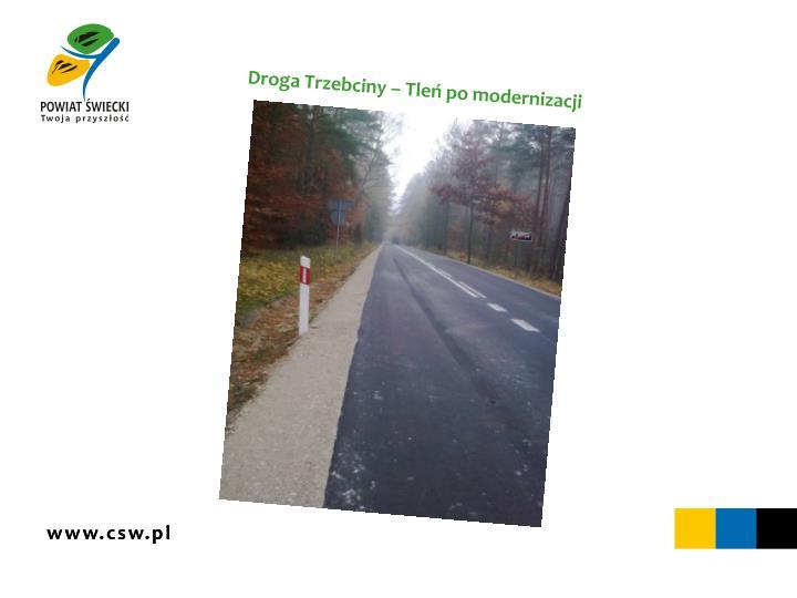 Droga Trzebciny – Tleń po modernizacji