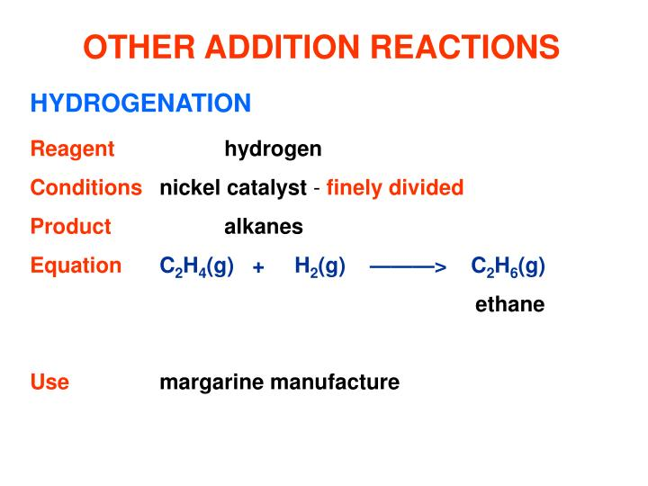 OTHER ADDITION REACTIONS